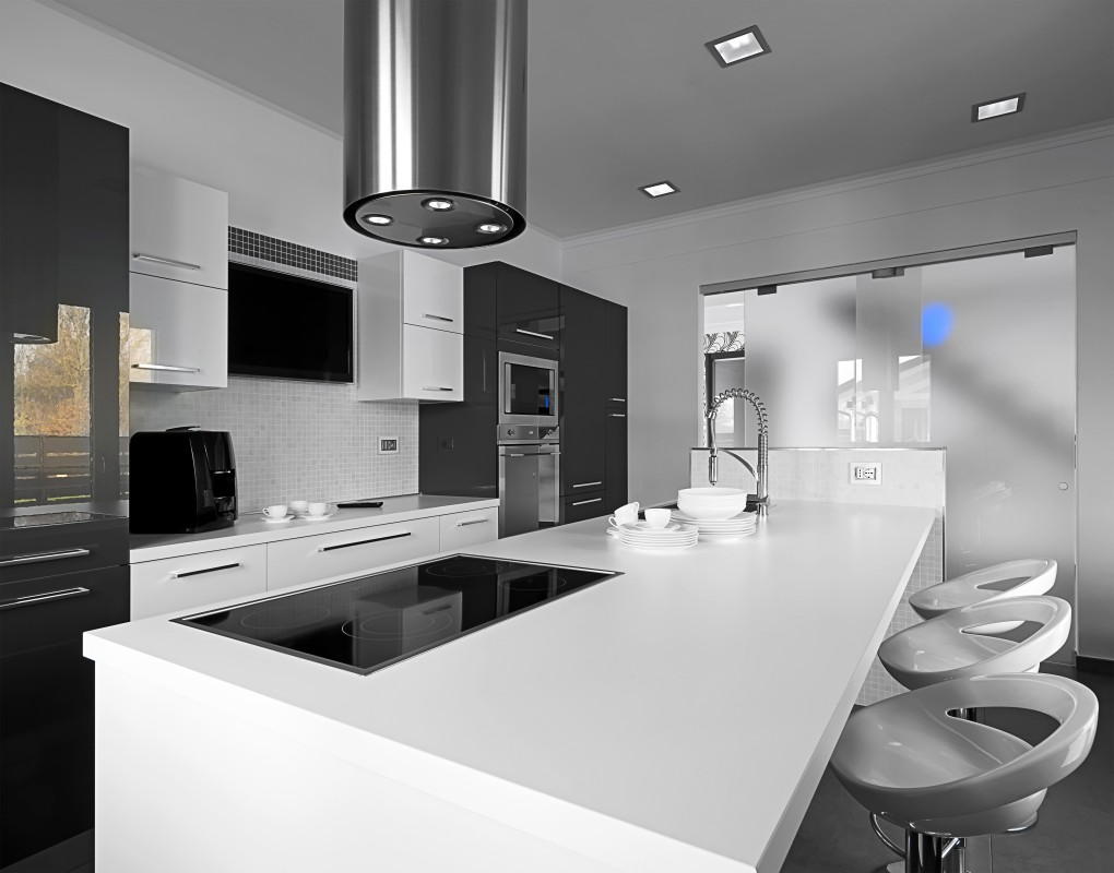 White Kitchen Top